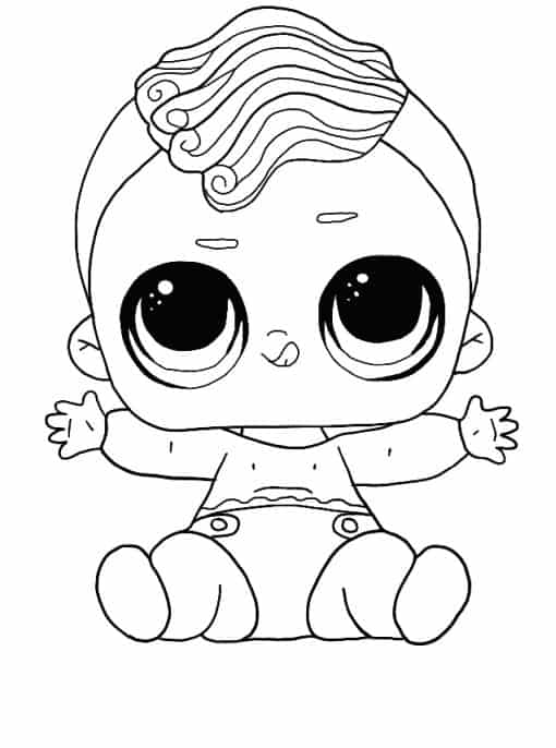 Lol Suprise Doll Lil Twang Dude Coloring Page