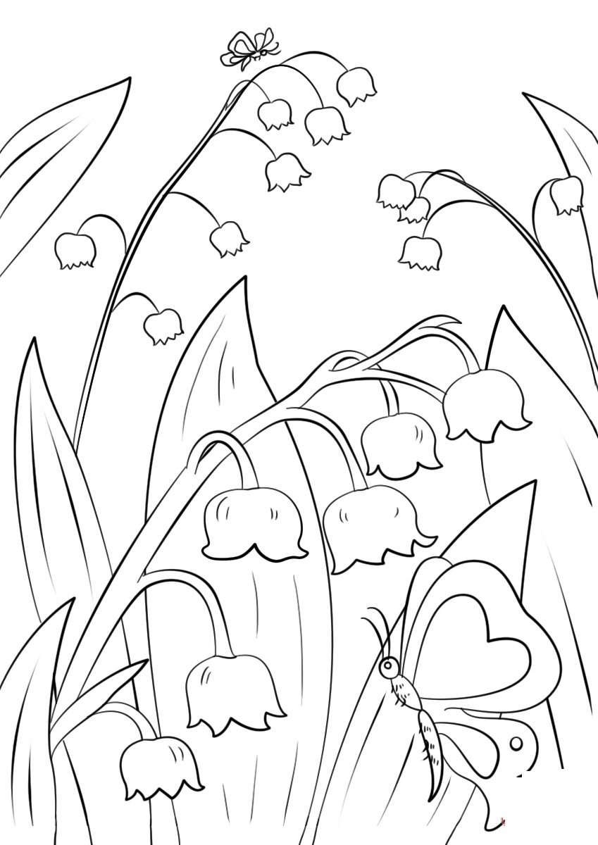Lily of the Valley Landscaping Coloring Page