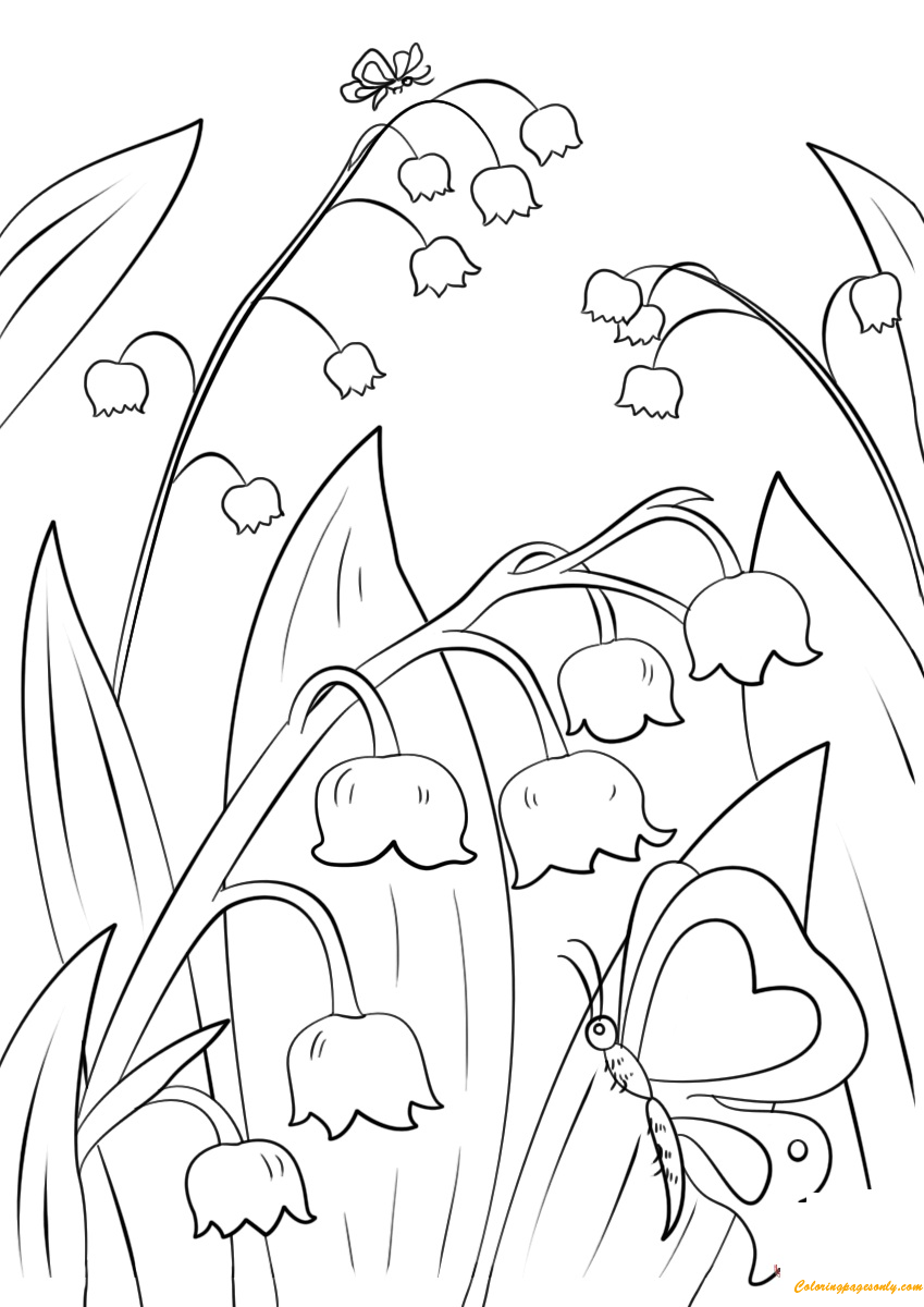 Lily of the Valley Landscaping Coloring Pages