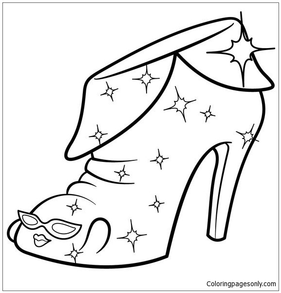 Limited Edition Angie Ankle Boot Shopkins Coloring Page