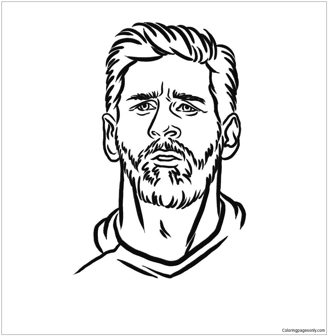 Lionel Messi-image 11 Coloring Page