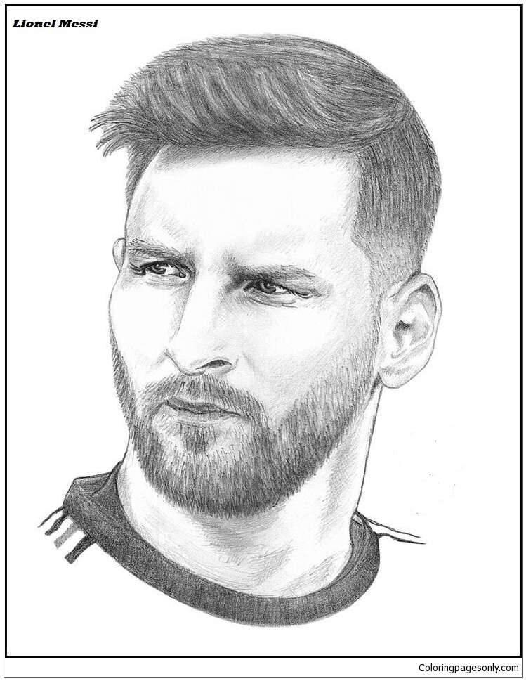 Lionel Messi-image 13 Coloring Page - Free Coloring Pages ...
