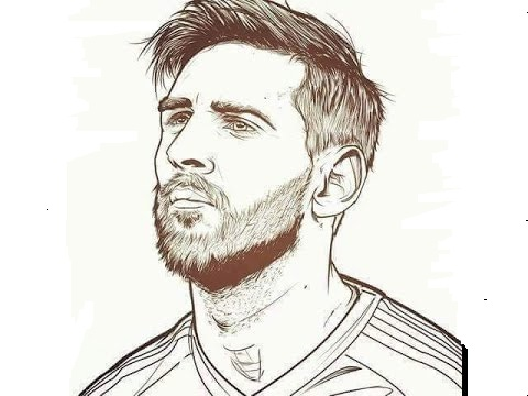 soccer star messi coloring pages - photo#26