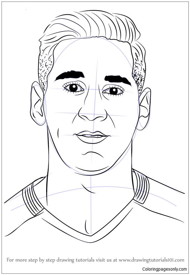 lionel messiimage 3 coloring pages  soccer players