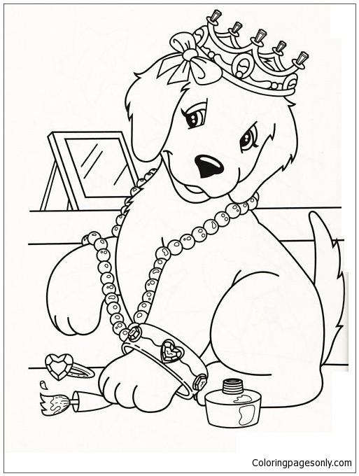 Lisa Frank Dog Coloring Page