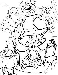 Little Halloween Witch Practis
