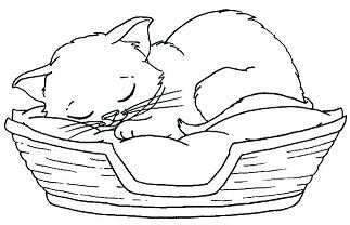 Little Kittens Coloring Page