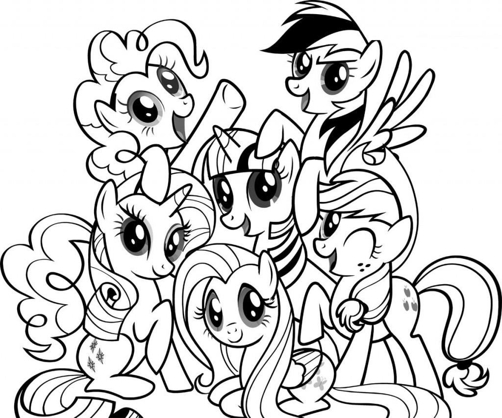 Little Ponies Coloring Page