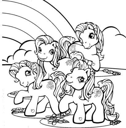 Little Pony Near Rainbow