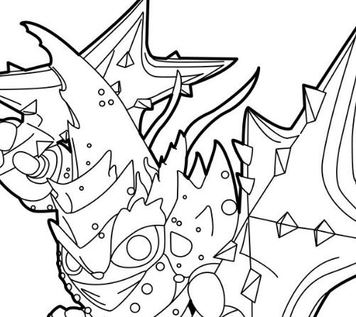 Lob Star - Water Trap Masters in Skylanders Coloring Page