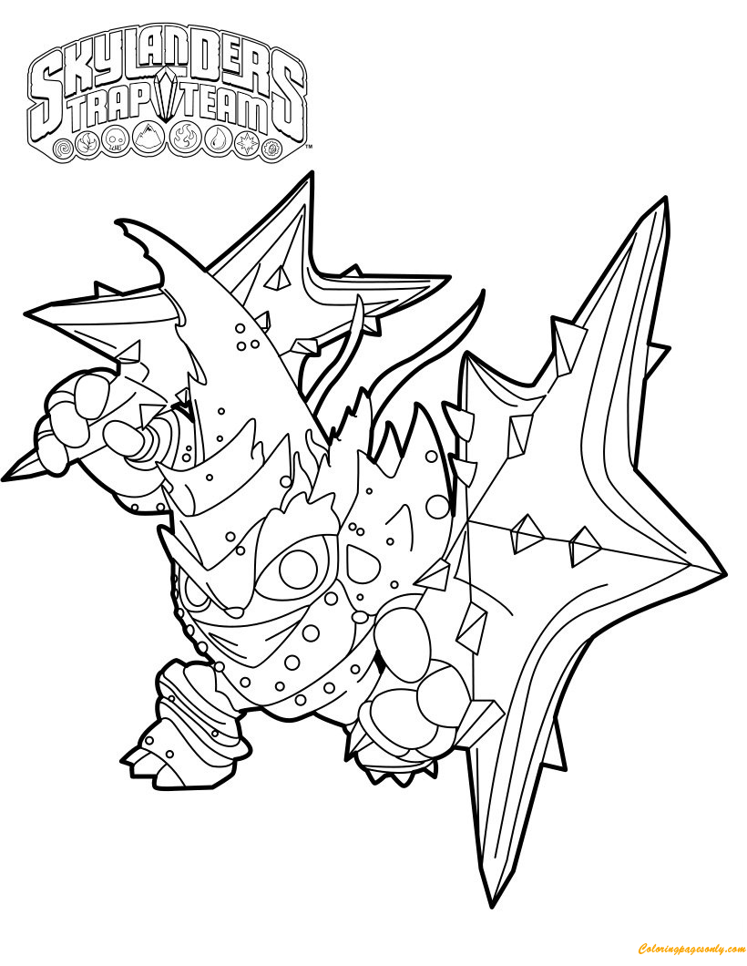 lob star water trap masters in skylanders coloring page free