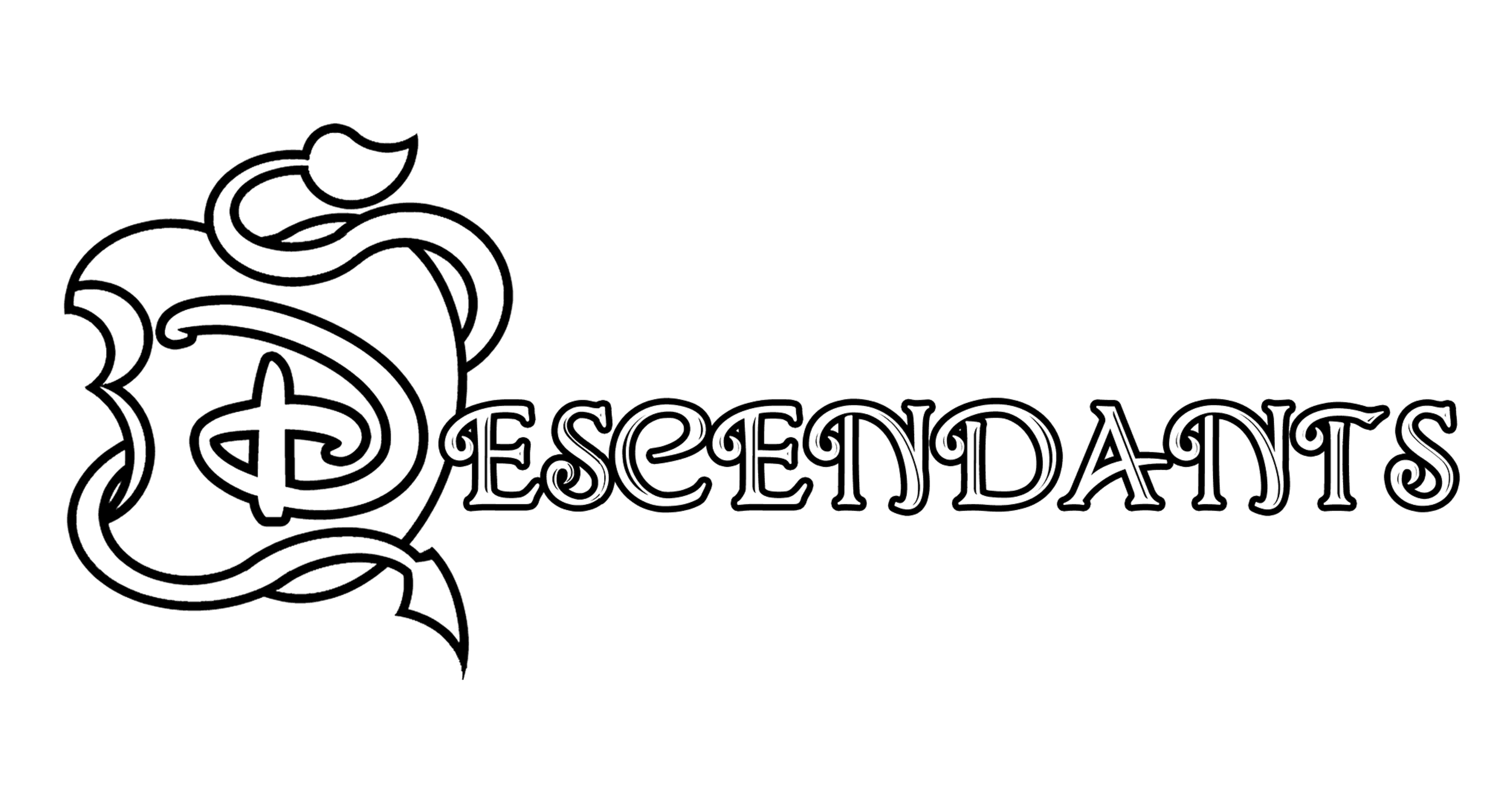 Logo Descendants Coloring Page
