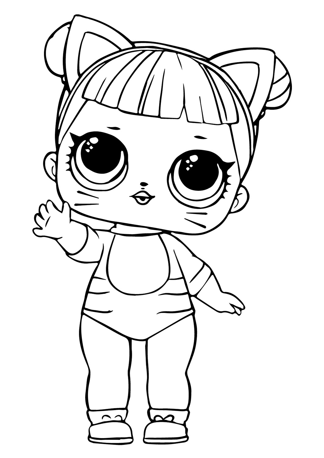 Lol Suprise Doll Baby Cat Coloring Pages