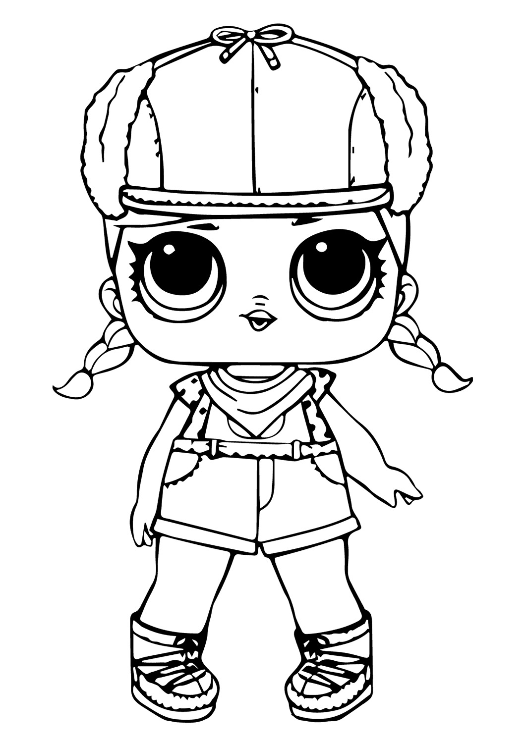 Lol Suprise Doll Pilot Girl Coloring Page
