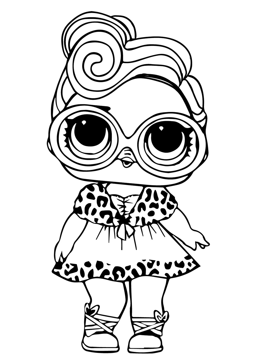 Lol Suprise Doll Dollface Coloring Pages