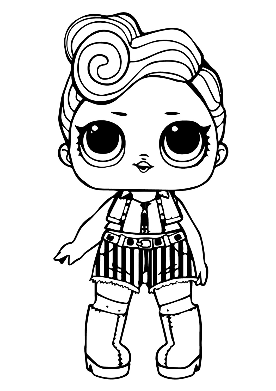 Lol Suprise Doll Funky Coloring Page
