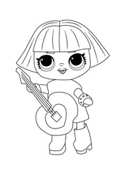 Lol Surprise Doll Character Coloring Page