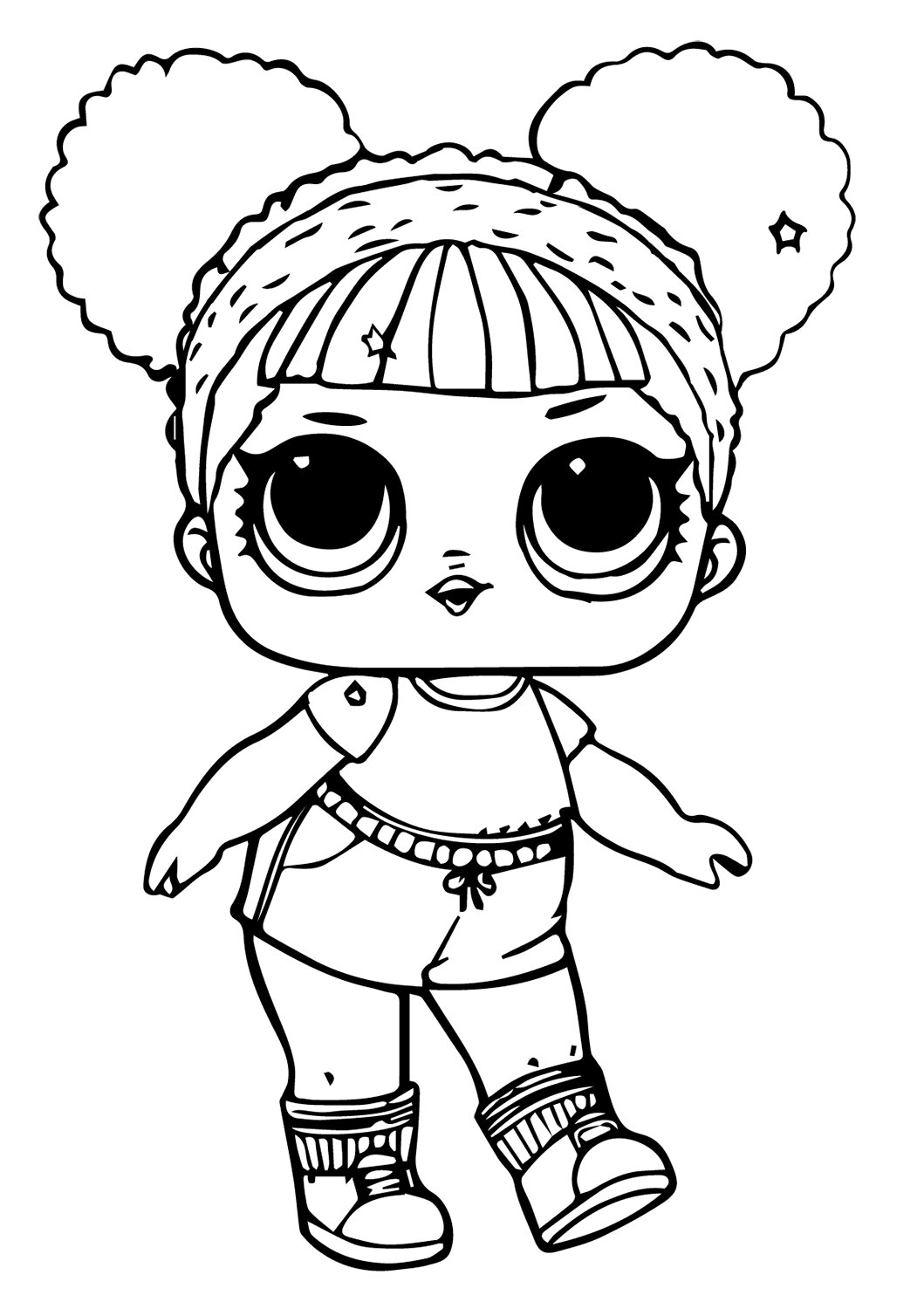 Lol Suprise Doll Hoops MVP Glitter Coloring Page