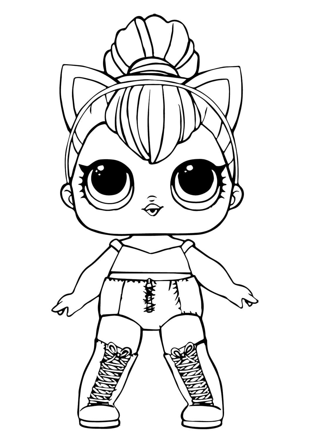 Lol Suprise Doll Kitty Queen Coloring Page