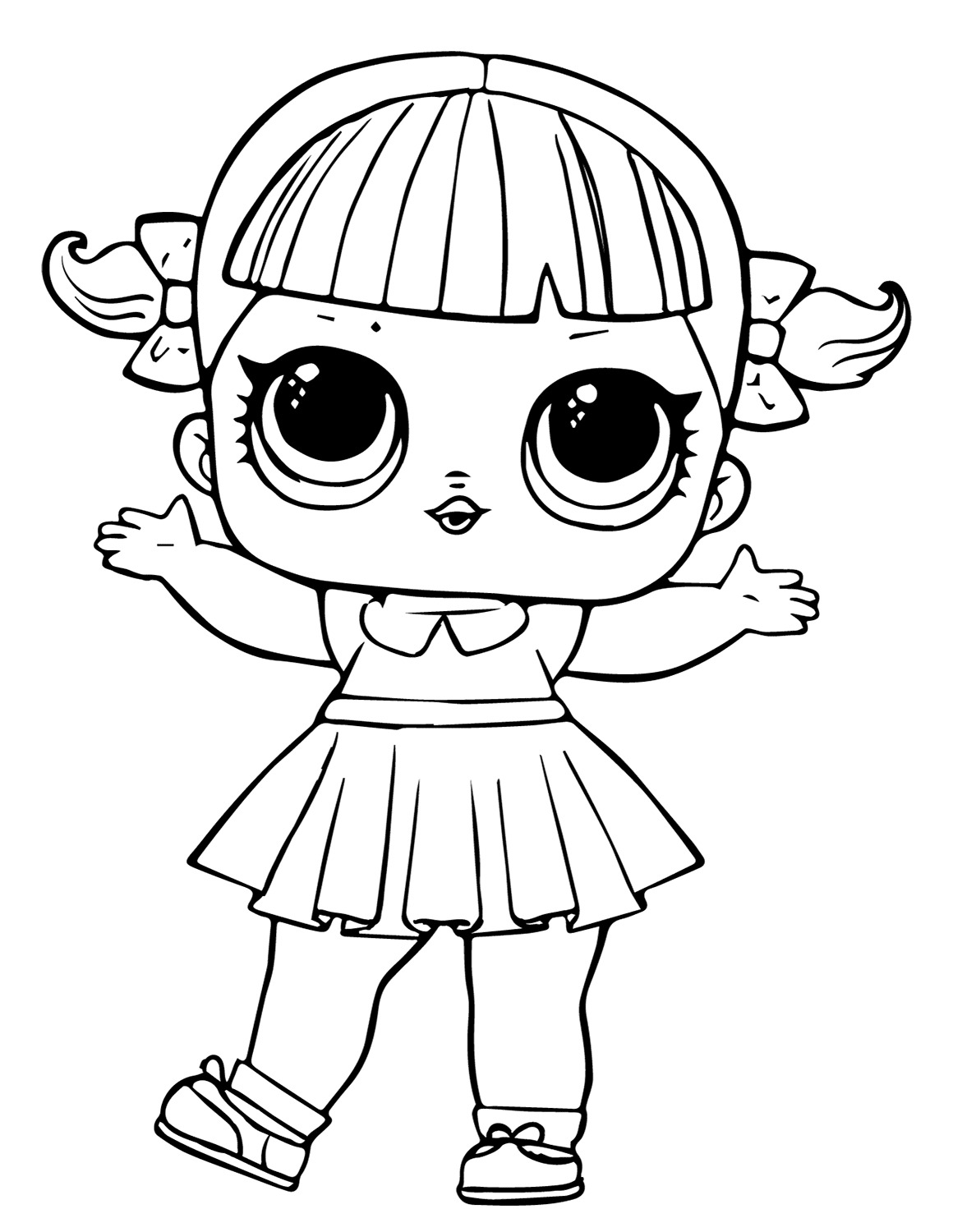 Lol Suprise Doll Line Dancer Coloring Page