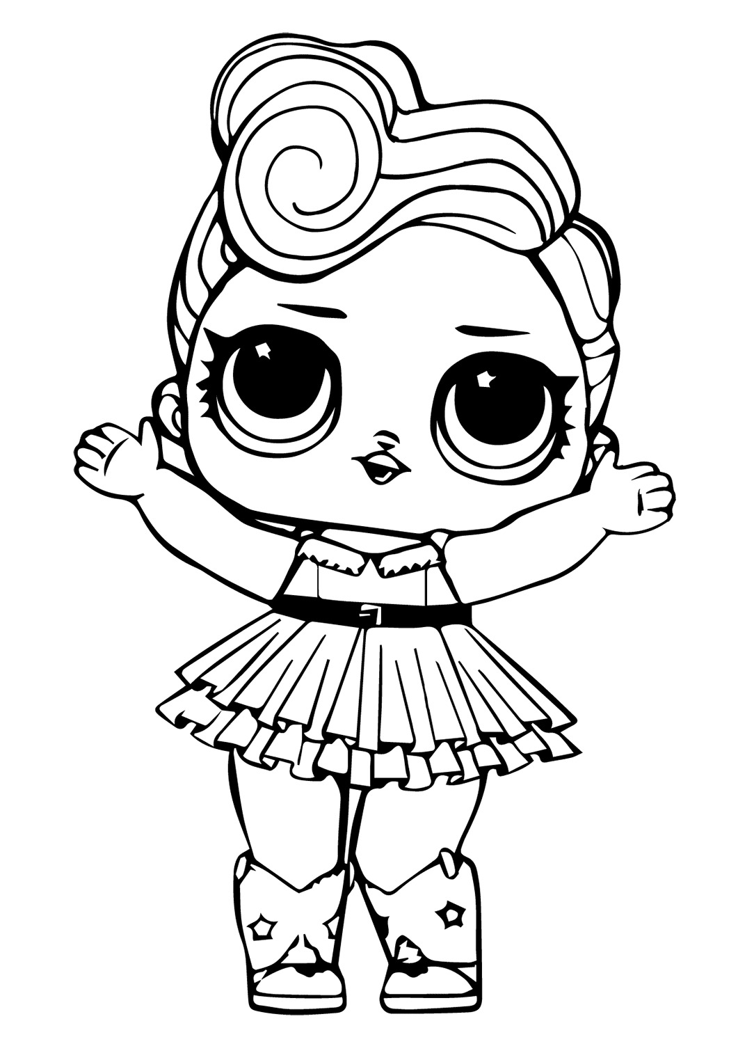 Lol Suprise Doll Luxe Coloring Page