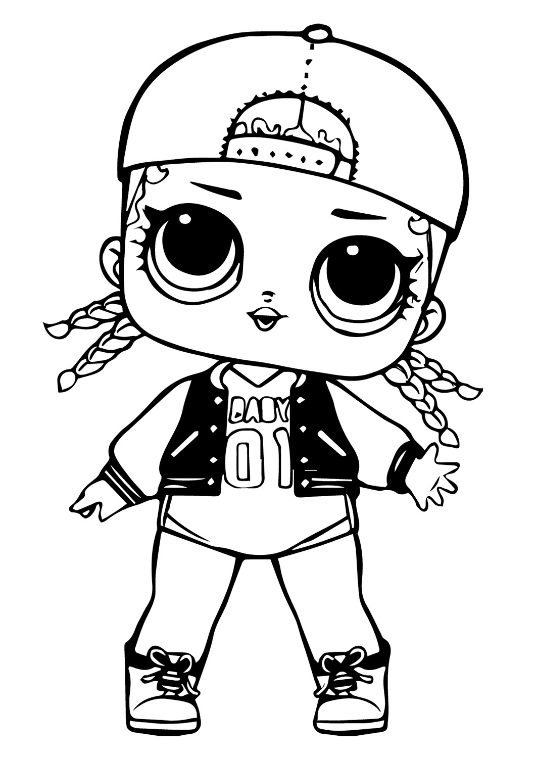Lol Suprise Doll MC Swag Coloring Page