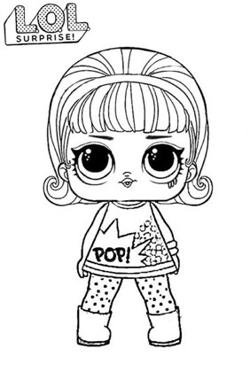Lol Surprise Doll Short Hair Coloring Page