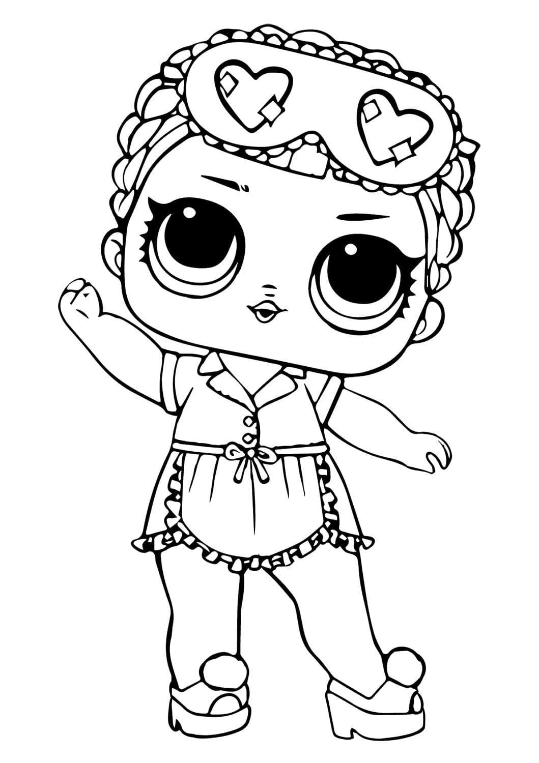 Lol Suprise Doll Sleeping Coloring Page