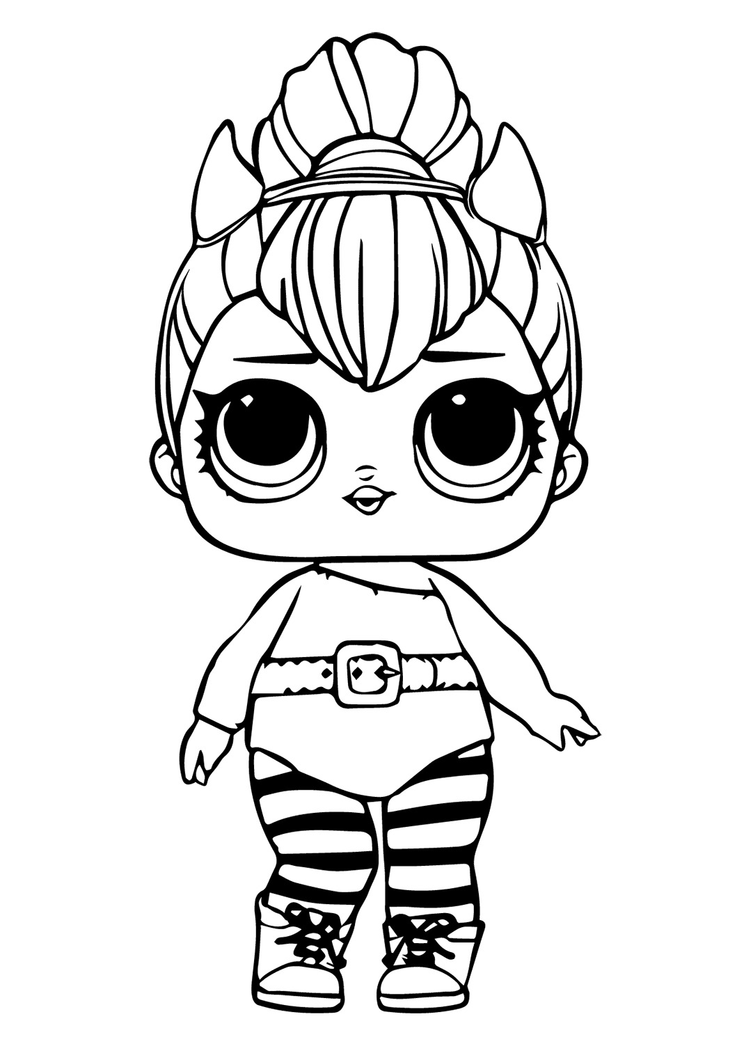 Lol Suprise Doll Spice Coloring Page