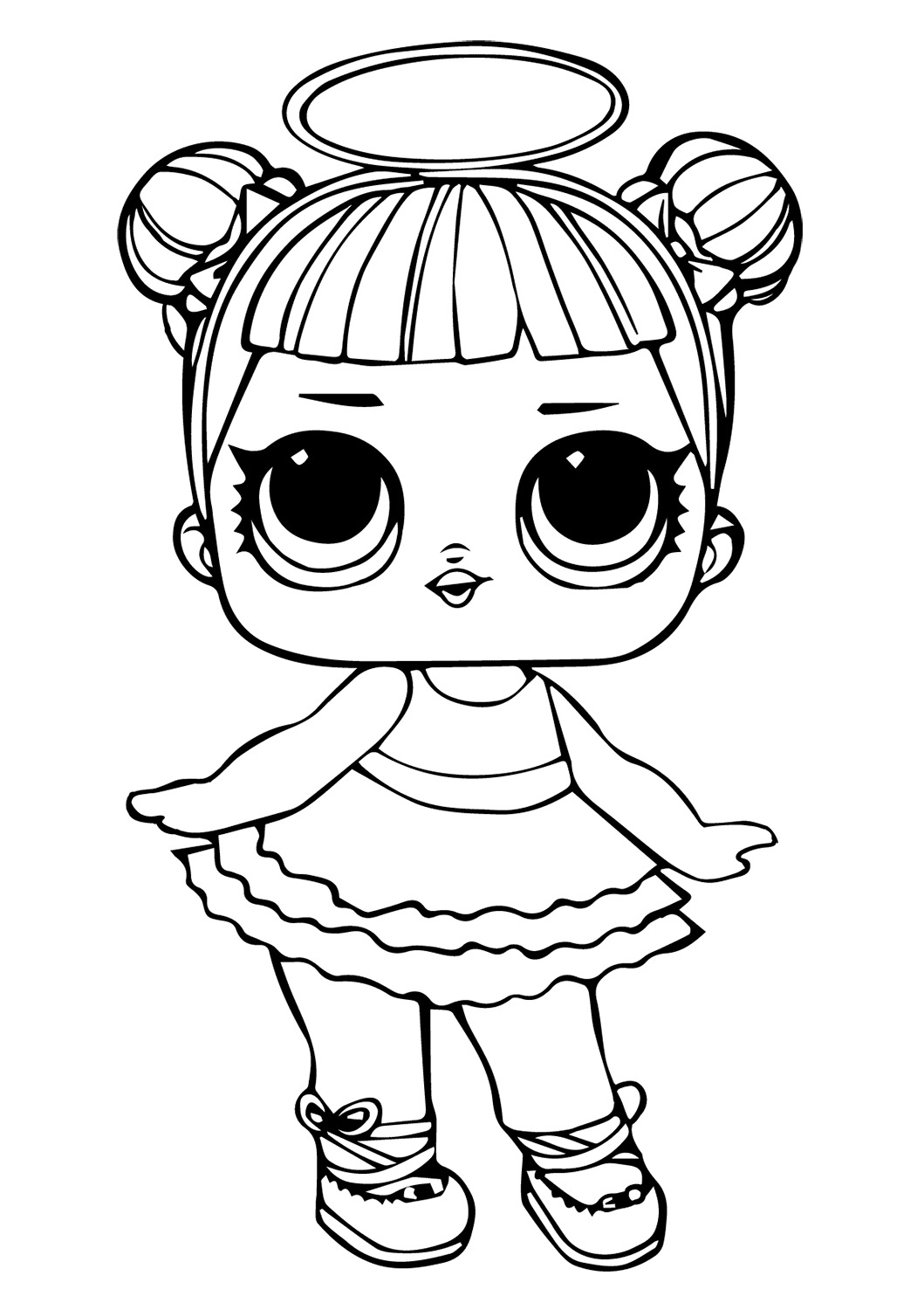 Lol Suprise Doll Sugar Coloring Page