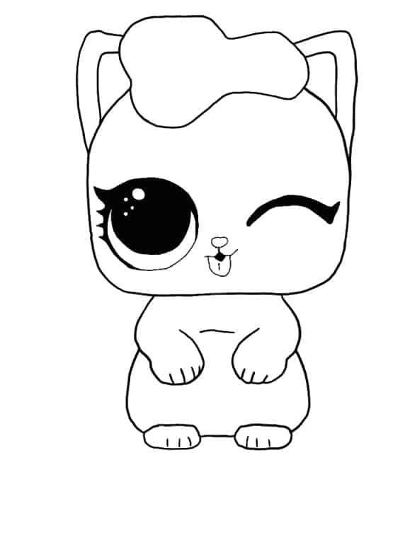 Lol Surprise Doll The Kitten Coloring Page