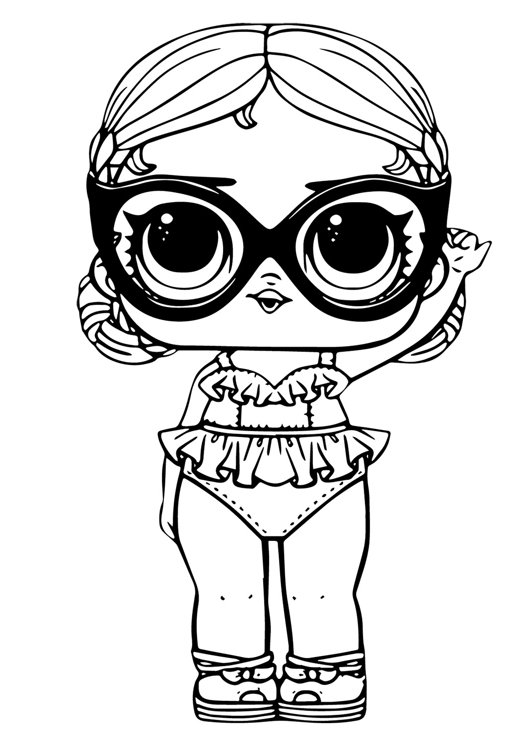Lol Suprise Doll Vacation Baby Coloring Page