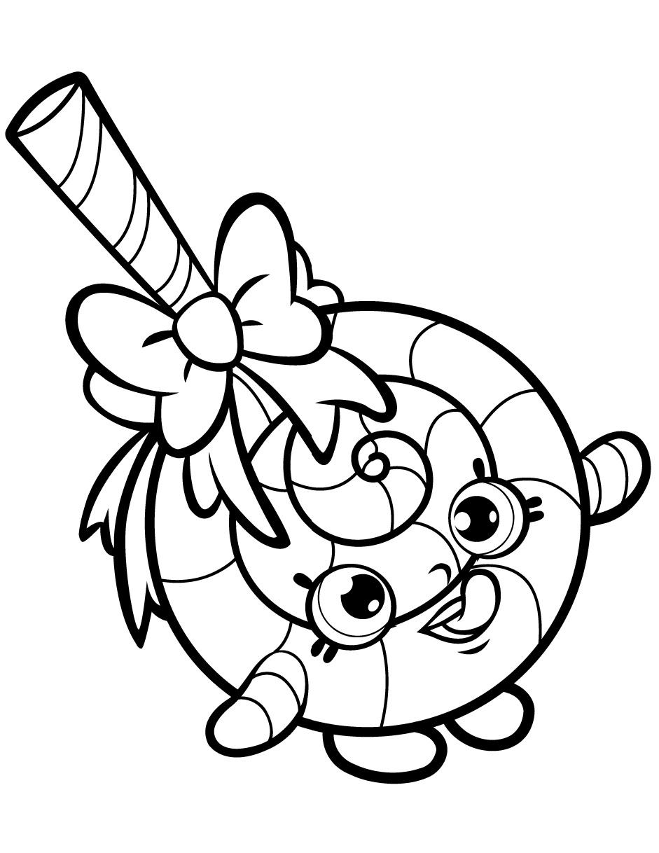 Lolli Poppins Shopkin Season 1 Coloring Page