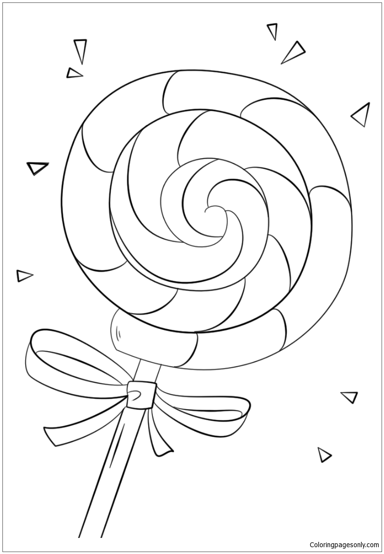 Lollipop 1 Coloring Page