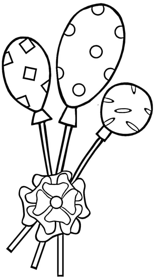 Lollipops Coloring Page