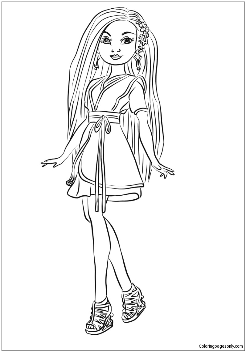 Lonnie From Descendants Wicked World Coloring Page