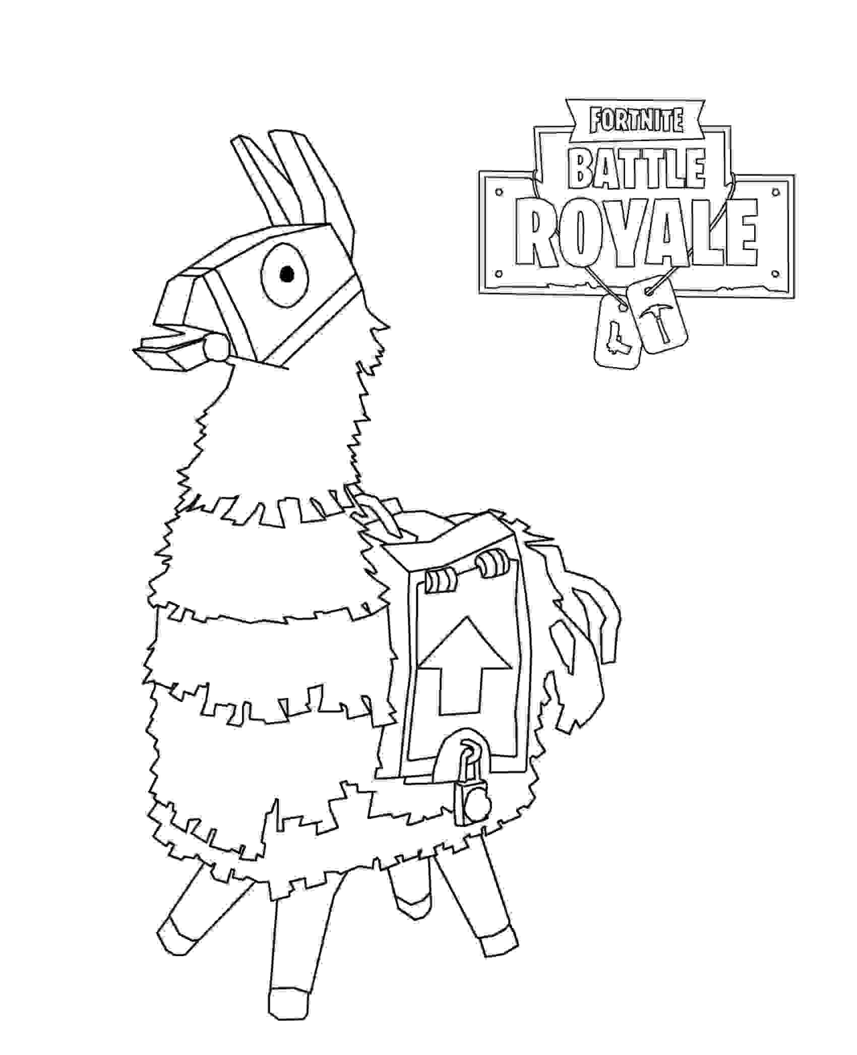 Loot Llama in Fortnite Save the World Coloring Page