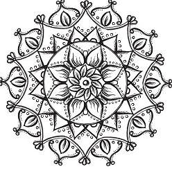 Lotus Flower Mandala Coloring Page