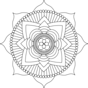 Lotus Mandala by Michelle Grewe