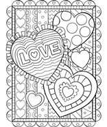 Love You So Much Coloring Page