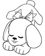 Lovely Puppy Coloring Page
