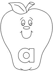 Lower case letter a Coloring Page