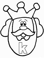 Lower Case Letter K  Coloring Page