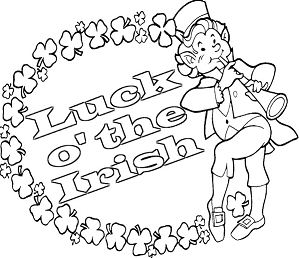 Luck o the Irish Coloring Page