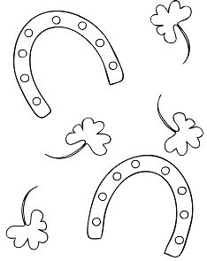 Lucky Horseshoe Coloring Page