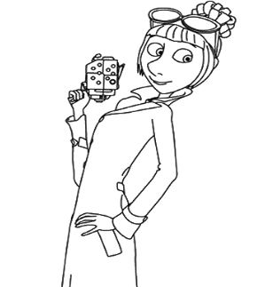 Lucy Girl Coloring Page