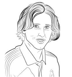 Luka Modrić-image 2 Coloring Page