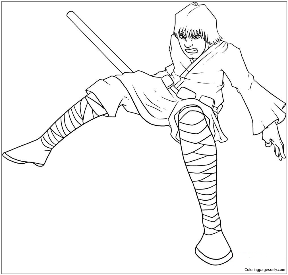 Luke Skywalker 2 Coloring Page - Free Coloring Pages Online