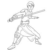 Luke Skywalker from Star Wars 1