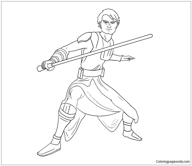Luke Skywalker from Star Wars 1 Coloring Page - Free ...